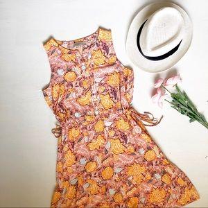 LOFT petite coral orange floral dress
